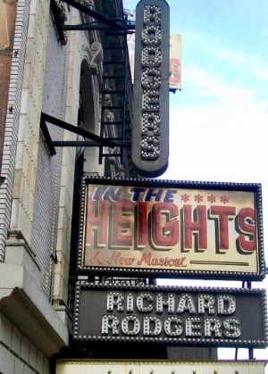 Photo of the  In the Heights  marquee in 2010. |  Photo: Chris White