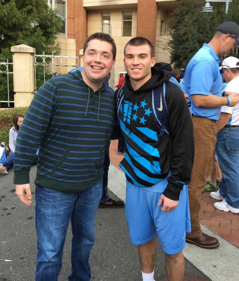 Me and Austin Proehl after a UNC game in 2016.